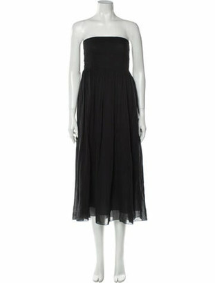 Giada Forte Strapless Midi Length Dress Black