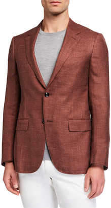 Ermenegildo Zegna Men's Textured Two-Button Regular-Fit Jacket