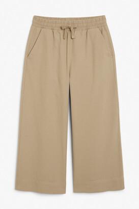 Monki Wide leg canvas trousers