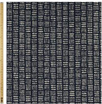 Hatch Sevenberry Cross Print Fabric, Blue