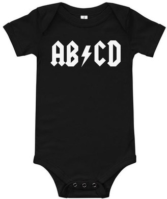 Rock and Roll ABCD Baby Bodysuit Onesie