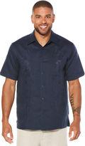 Cubavera Short Sleeve Embroidered Panel Shirt