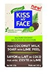 Kiss My Face Pure Coconut Milk Soap Bar with Coconut Oil and Lime Peel, 5 oz