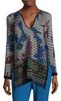 Etro Stripe V-Neck Blouse