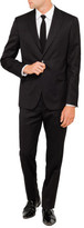 Versace Wool Nat Str Plain Peak Suit