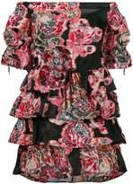 Christian Pellizzari printed frill trim mini dress