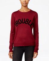 Ultra Flirt Juniors' Trouble Graphic Sweater