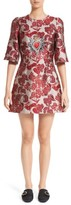 Dolce & Gabbana Women's Crest Floral Jacquard Dress