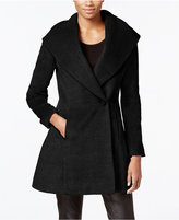 Trina Turk Wool-Blend Skirted Wrap Coat