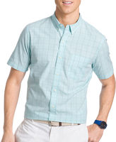 Izod Short-Sleeve Seaport Poplin Sport Shirt