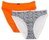 Petit Bateau Set of 2 girls plain/printed Lycra jersey panties