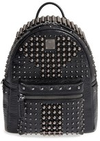 MCM Small Stark Studs Backpack - Black