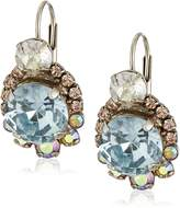 "Sorrelli Sky Blue Peach"" Twinkling Trinkets Earrings"