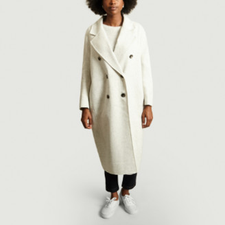 American Vintage Light Gray Wool Dadoulove Coat - m | wool | light gray