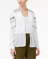 XOXO Juniors' Sequin Chiffon-Peplum Jacket