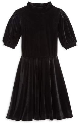 Aqua Girls' Mock-Neck Velvet Dress, Big Kid - 100% Exclusive