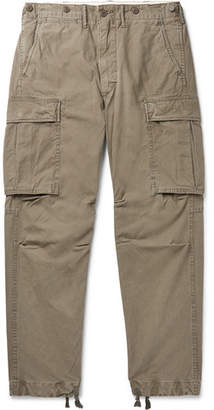 Ralph Lauren RRL Slim-Fit Tapered Washed-Cotton Cargo Trousers