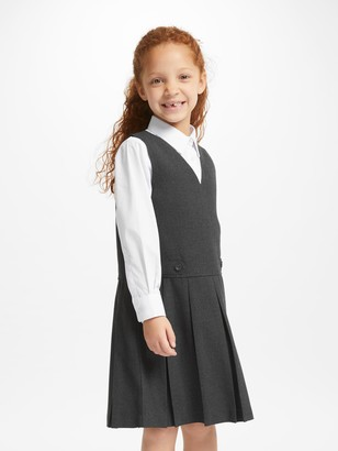 John Lewis & Partners School Box Pleat Tunic, Grey