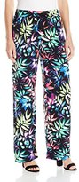 Rafaella Women's Missy Exploded Backlight Palms Print Wide Leg Pant