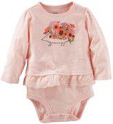 Osh Kosh Baby Girl Graphic Eyelet Mocklayer Bodysuit