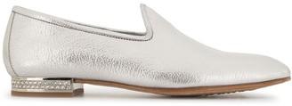 Pedro Garcia Ginebra crystal-heel loafers