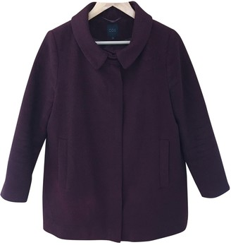 Cos \N Burgundy Wool Coat for Women