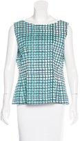 Kate Spade Sleeveless Grid Print Top