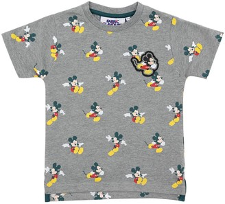 Fabric Flavours MICKEY MOUSE PRINT COTTON JERSEY T-SHIRT