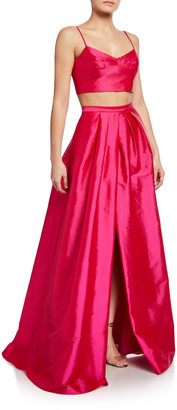 Aidan Mattox 2-Piece Taffeta Ball Gown Set