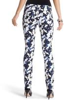 White House Black Market Blanc Floral-Print Slim Ankle Jean