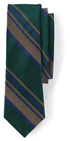 Lands' End Men's Silk Melange Stripe Necktie-Khaki