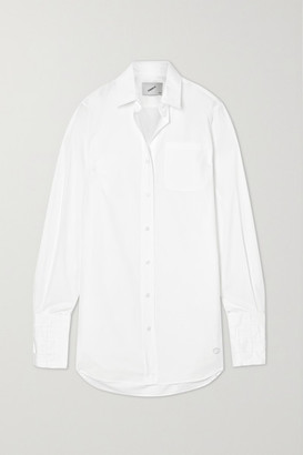 Coperni Oversized Cotton-poplin Shirt - White