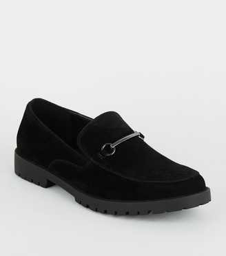 New Look Suedette Bar Front Chunky Sole Loafers