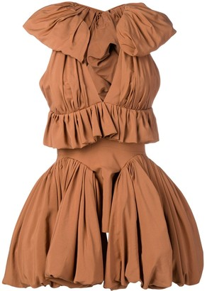 Maticevski ruffle trim dress