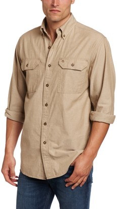 Carhartt Men's Big & Tall Fort Long Sleeve Shirt Lightweight Chambray Button Front Relaxed Fit