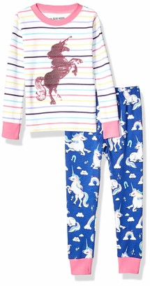 Hatley Little Blue House Girl's Long Sleeve Applique Pyjama Sets