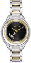 Citizen Eco-Drive Women's L-Sunrise Diamond-Accent Two-Tone Stainless Steel Bracelet Watch 33mm, a Macy's Exclusive Style