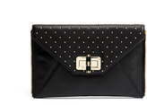 Diane von Furstenberg 440 Gallery Zip Out Studded Leather Clutch Bag
