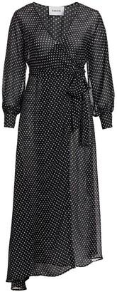 Baacal, Plus Size Polka Dot Maxi Wrap Dress