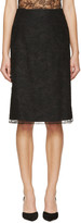 Nina Ricci Black Lace Skirt