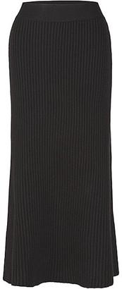 Bottega Veneta Rib-Knit Wool-Blend Midi Skirt