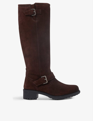 Bertie Trust suede knee-high boots