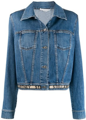 Stella McCartney logo hem denim jacket