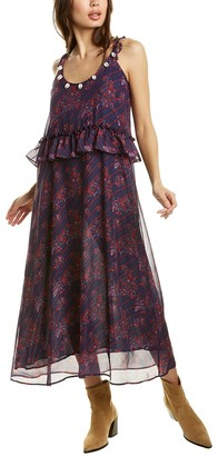 Figue Alina Silk Maxi Dress