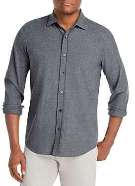 The Men's Store at Bloomingdale's Cotton Heathered Classic Fit Button Down Shirt - 100% Exclusive
