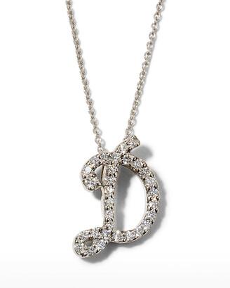 Roberto Coin Diamond Initial Necklace