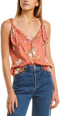 Rebecca Taylor Lita Floral Silk-Blend Tank