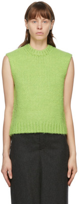 we11done Green Knit Sweater Vest