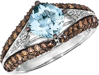 LeVian Le Vian 14K 2.17 Ct. Tw. Diamond & Aquamarine Ring