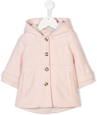 Chloé Kids faux fur lined coat